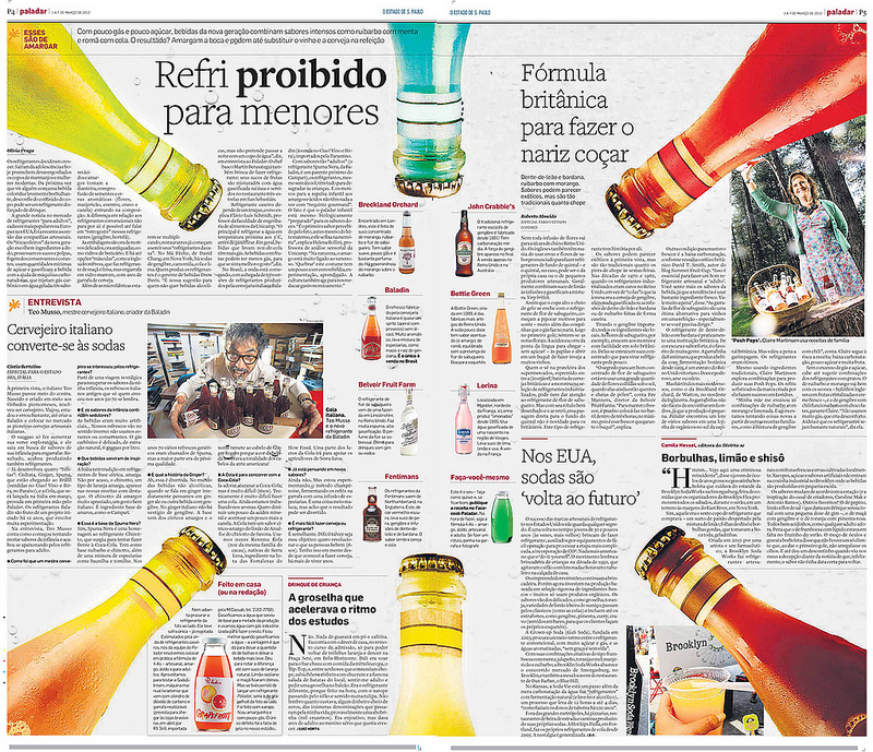 Central Paladar 1/3/12 - Refrigerante para adultos, example of exclusions in print