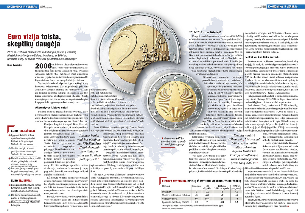 Euro zone, example of exclusions in print