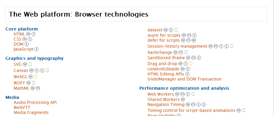 The Web platform: Browser technologies, example of multi-column layout
