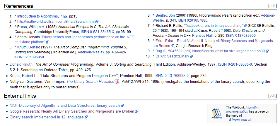Wikipedia references, example of multi-column layout